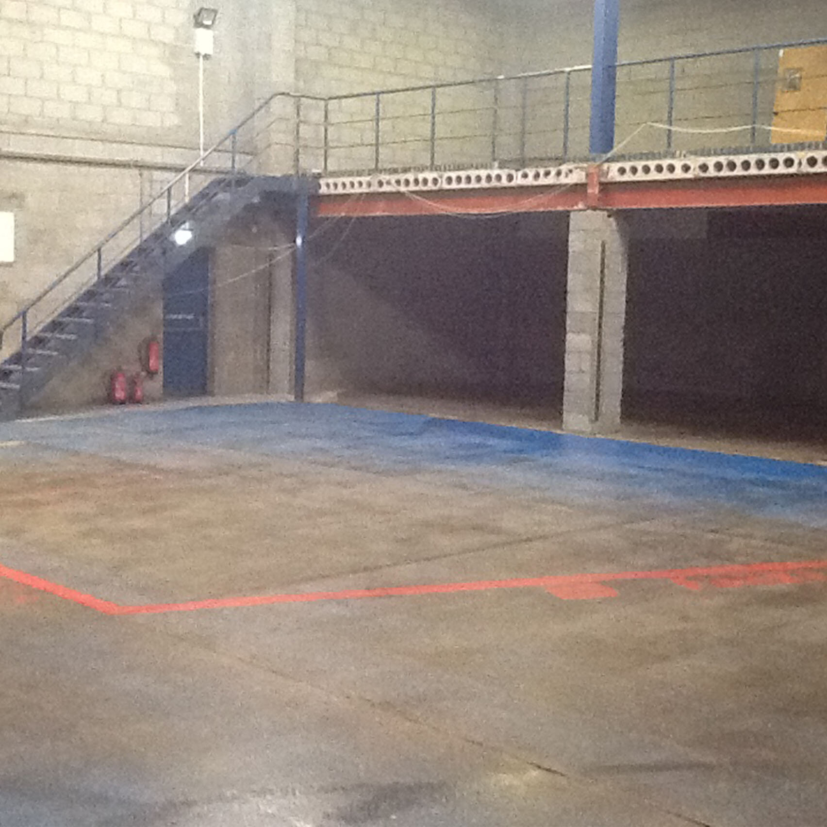Old warehouse space before refurbishment
