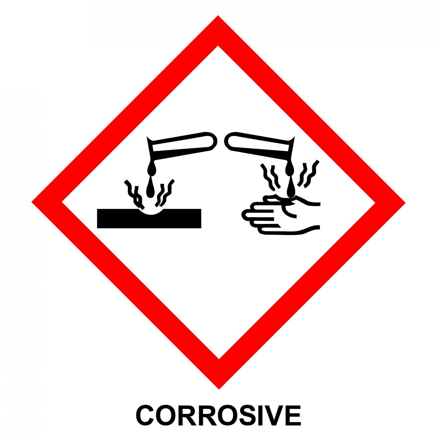 Corrosive Substance Warning Sign