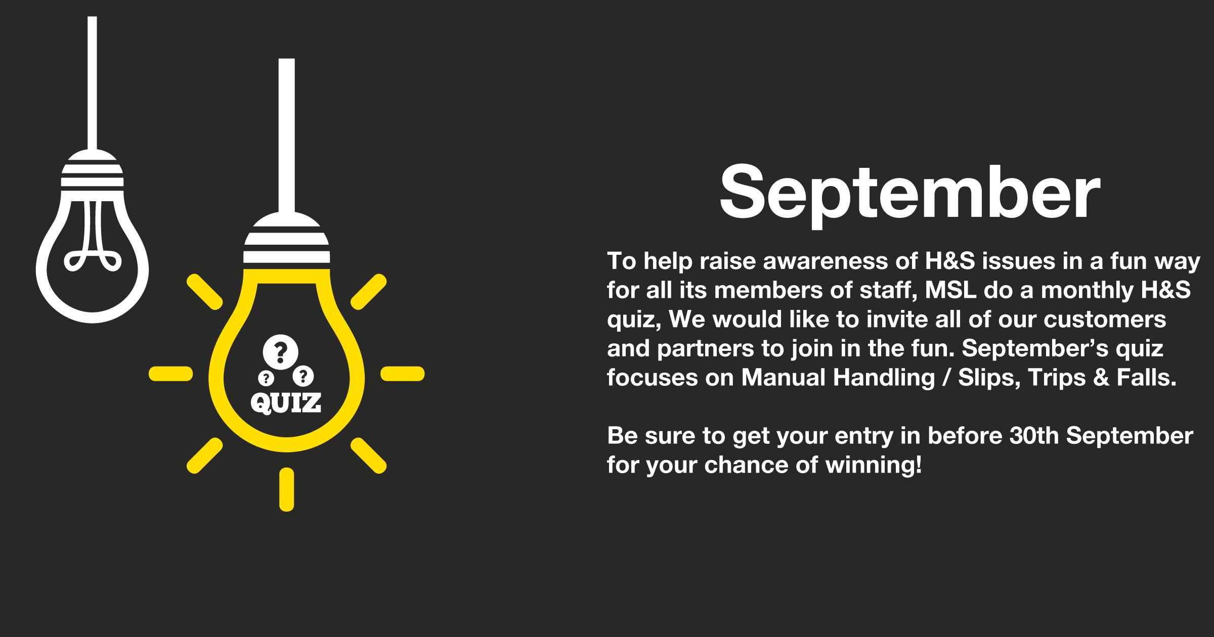 September 2016 H&S Quiz Closing Soon image