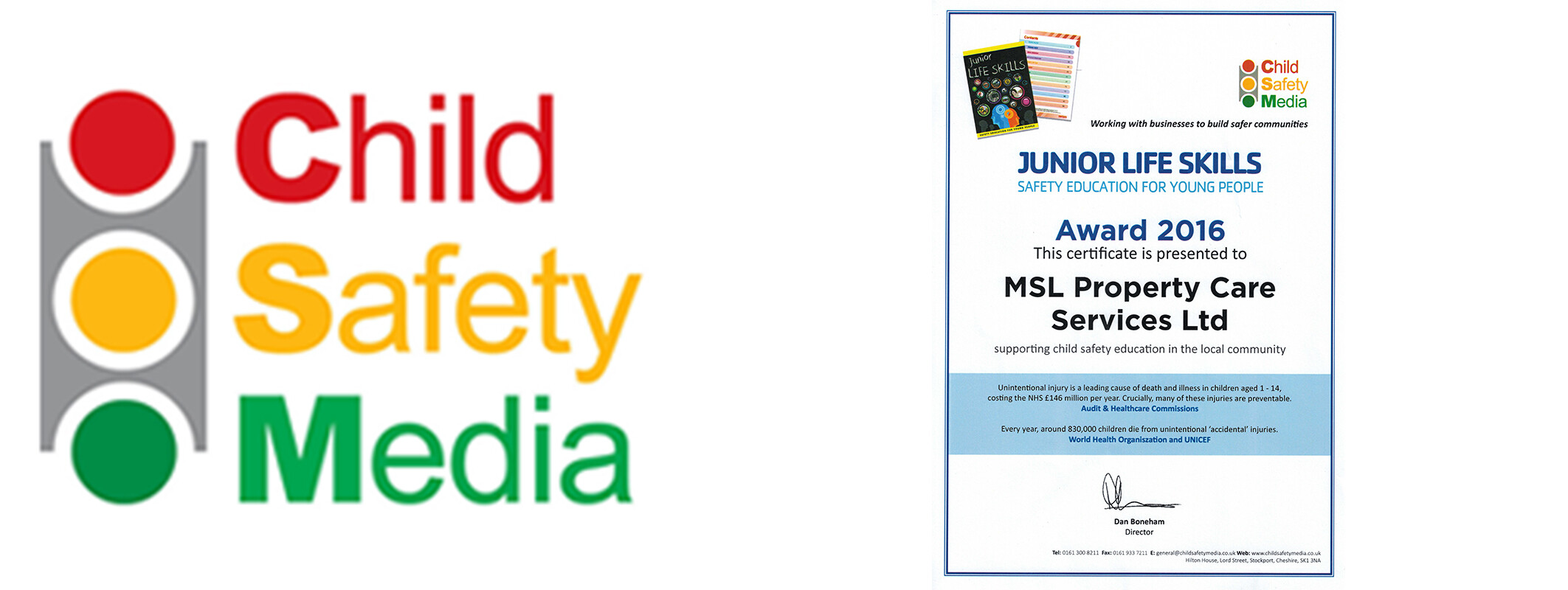 MSL Support Child Safety Media Certificate and Logo