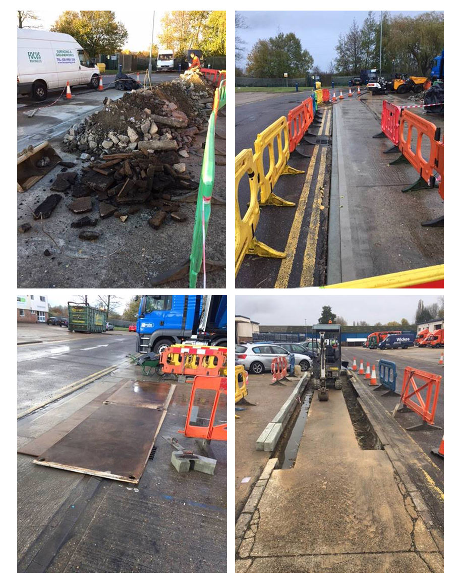 Collage of MSL PLanned Maintenance Repairs to Road Area in Maidstone