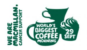 Macmillan Coffee Morning - 29th September 2017