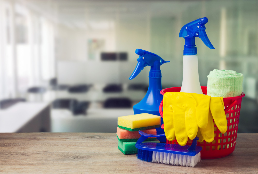 Cleaning Products in an office