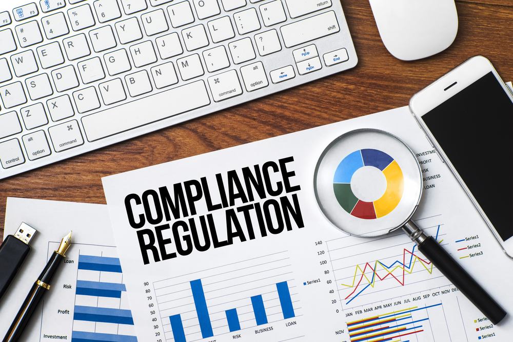 Compliance Regulation Image with Mobile Phone